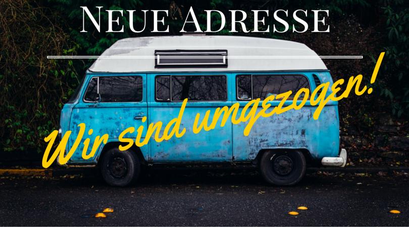 Neue Adresse